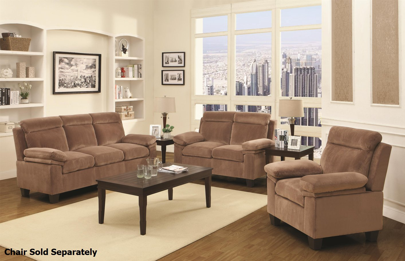Jovana Brown Fabric Reclining Sofa And Loveseat Set Steal A Sofa