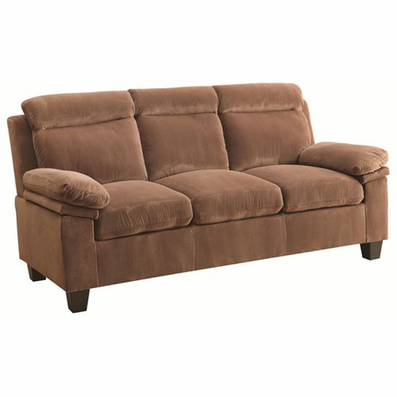Coaster Jovana 503714 Brown Fabric Sofa