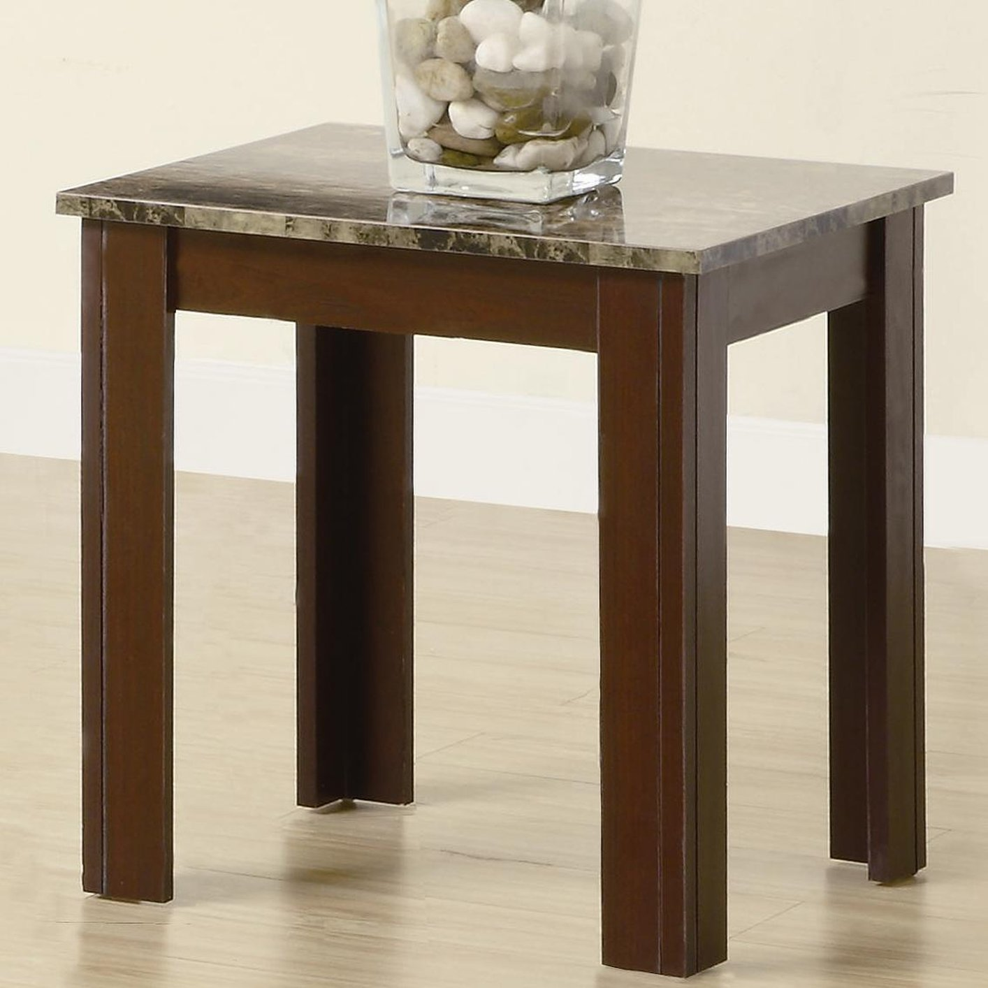 Coaster Jovana 700395 Brown Marble Coffee Table Set Steal A Sofa Furniture Outlet Los Angeles Ca