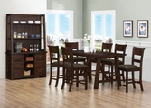 Julius Rustic Walnut Wood Pub Table Set