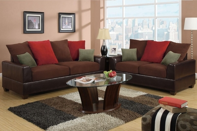 Kalei Red Leather Sofa and Loveseat Set
