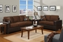 Tesse Brown Leather Sofa and Loveseat Set