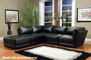 Kayson Black Reversible Sectional Sofa