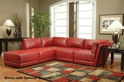 Kayson Red Reversible Sectional Sofa