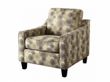 Kelvington Brown Fabric Accent Chair