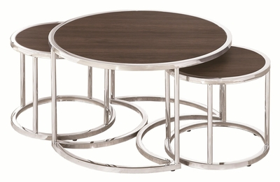 Kelvington Brown Metal Nesting Table