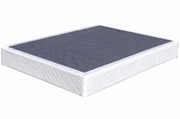 White Fabric Box Spring