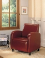 Red Leather Accent Chair