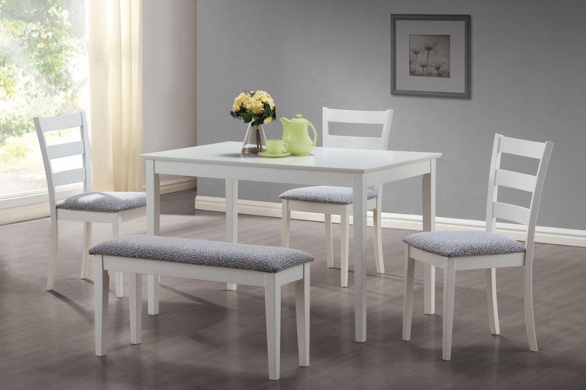 Knox White Wood Dining Table Set Steal A Sofa Furniture