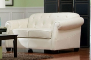 Kristyna Beige Leather Loveseat