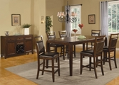 Lenox Medium Brown Wood Pub Table Set
