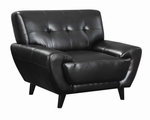 Leskow Black Leather Chair
