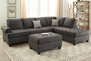 Lexi Black Fabric Sectional Sofa