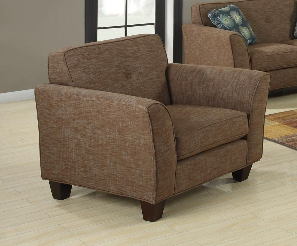 Lilian brown tweed chair steal a sofa furniture outlet for Furniture 90036