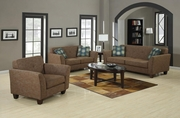 Lilian Brown Tweed Sofa And Loveseat Set