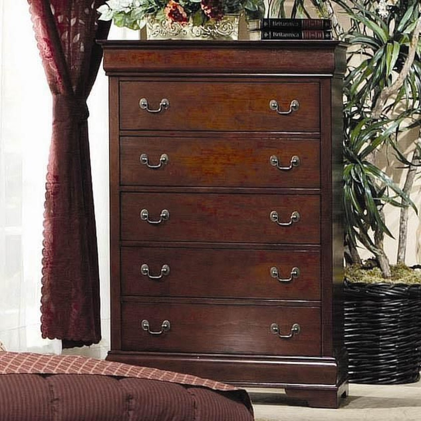 Louis Philippe Cherry Wood Chest Of Drawer