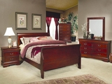 Louis Philippe Cherry Wood Eastern King Bed Set
