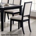 Beige Wood Dining Chair
