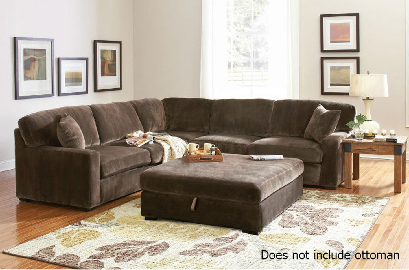 Coaster 500703 brown fabric sectional sofa steal a sofa for Brown fabric couch