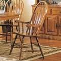 Mackinaw Warm Oak Arm Chairs (Min Qty 2)