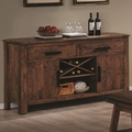 Maddox Rustic Brown Wood Buffet Table
