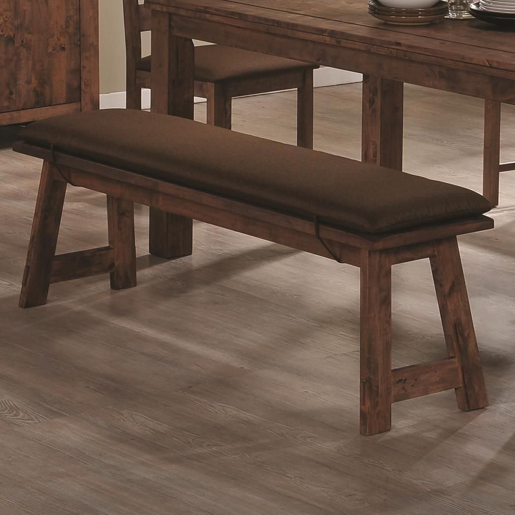 Merveilleux Maddox Rustic Brown Wood Dining Bench
