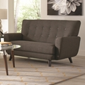 Maguire Grey Fabric Loveseat