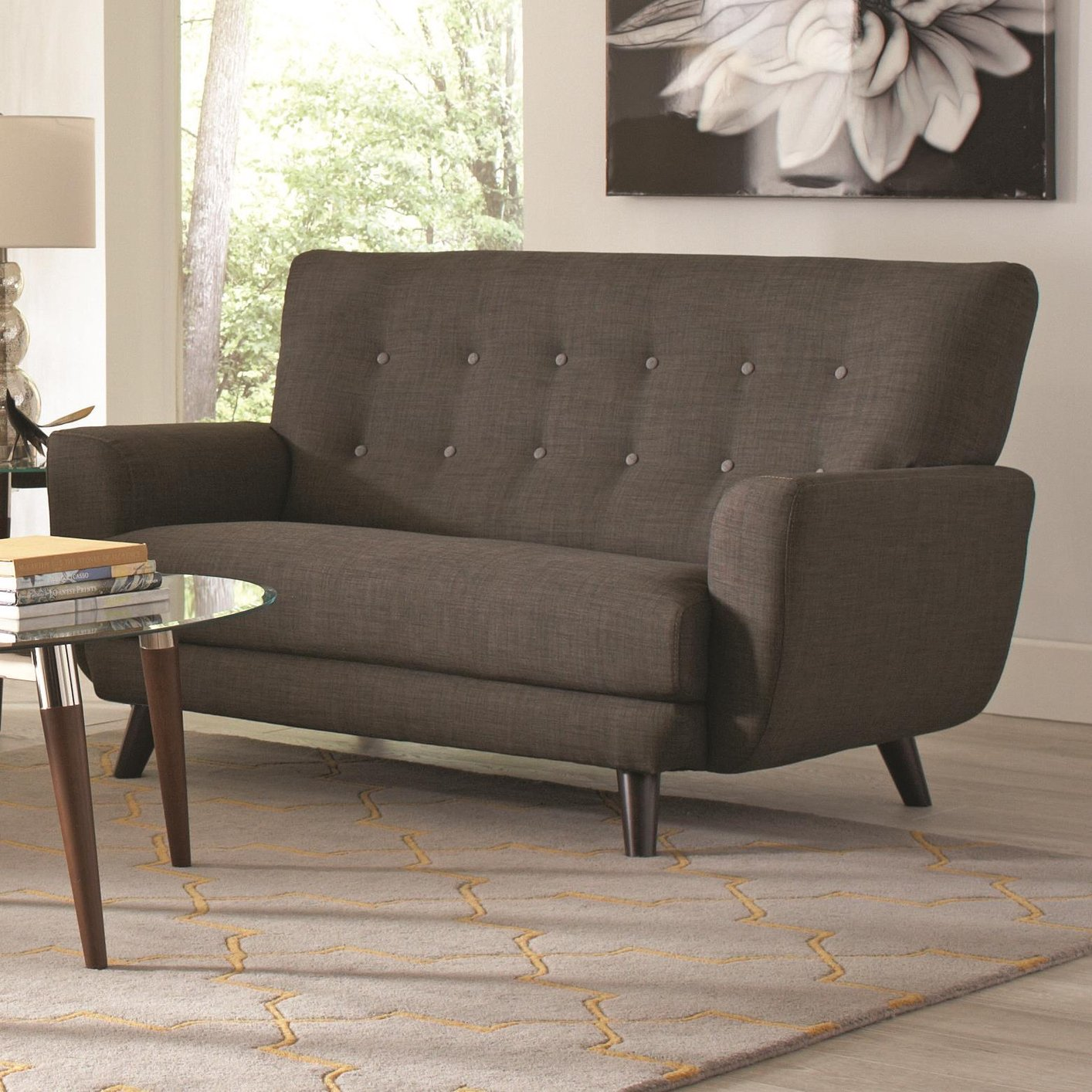 aron set steal yellow furniture fabric sofa outlet and loveseat poundex a