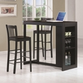 Malin Black Wood Pub Table Set