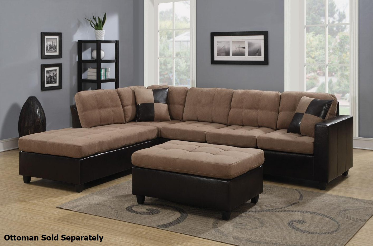 Coaster mallory 505675 beige fabric sectional sofa steal for Mallory material