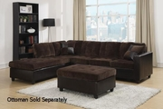 Mallory Brown Leather Sectional Sofa