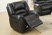 Malta Black Leather Glider Recliner