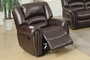 Malta Brown Leather Glider Recliner