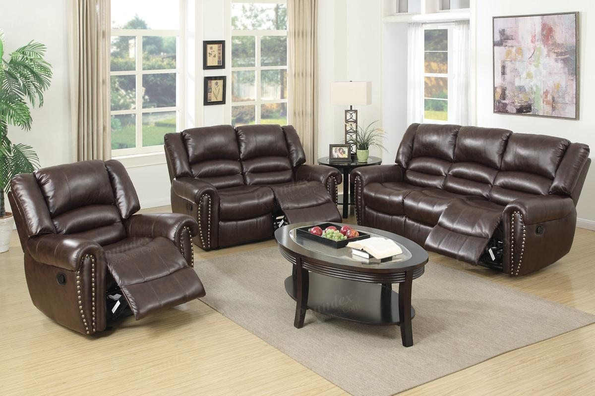 Malta Brown Leather Reclining Sofa Steal A Sofa