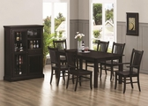 Marbrisa Cappuccino Wood Dining Table Set