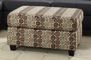 Maribel Brown Fabric Ottoman
