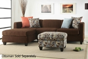 Maribel Brown Fabric Sectional Sofa