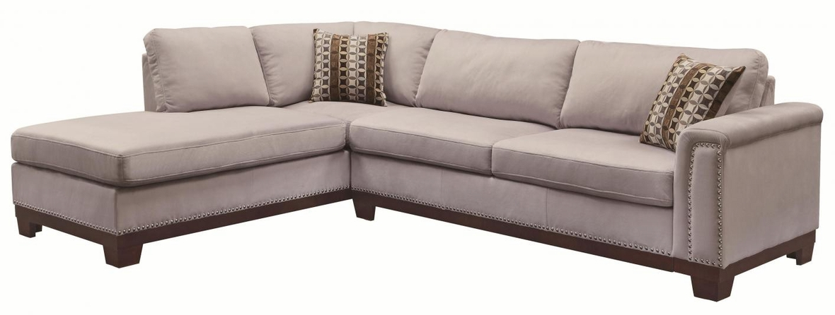 Mason grey fabric sectional sofa steal a sofa furniture for Sectional sofa los angeles ca