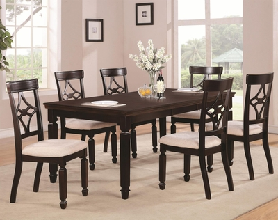 Maude Cappuccino Wood Dining Table
