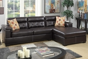 McGregor Brown Leather Sectional Sofa