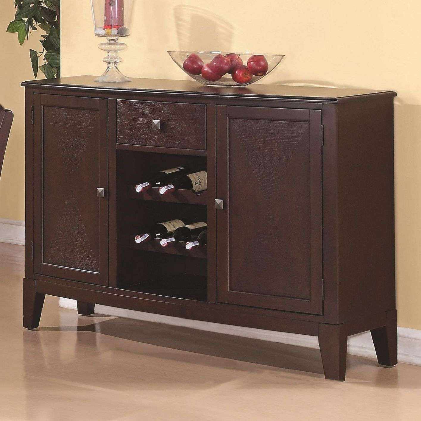 Memphis cappuccino wood buffet table steal a sofa