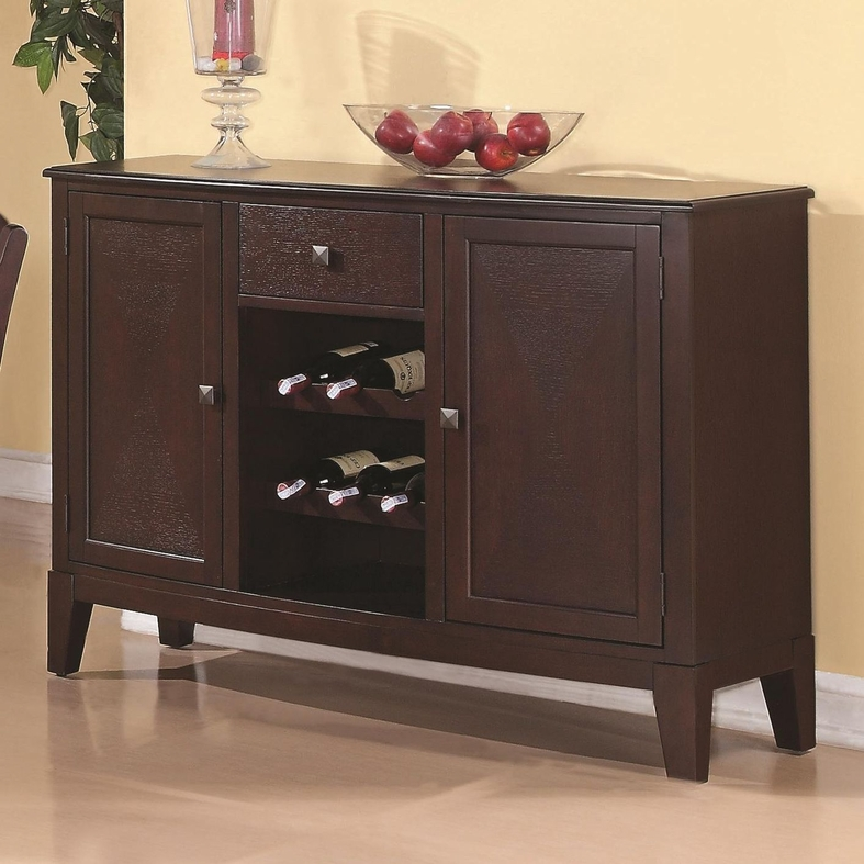 Memphis Cappuccino Wood Buffet Table Steal Sofa Furniture Outlet Los Angeles