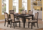 Memphis Cappuccino Wood Dining Table Set