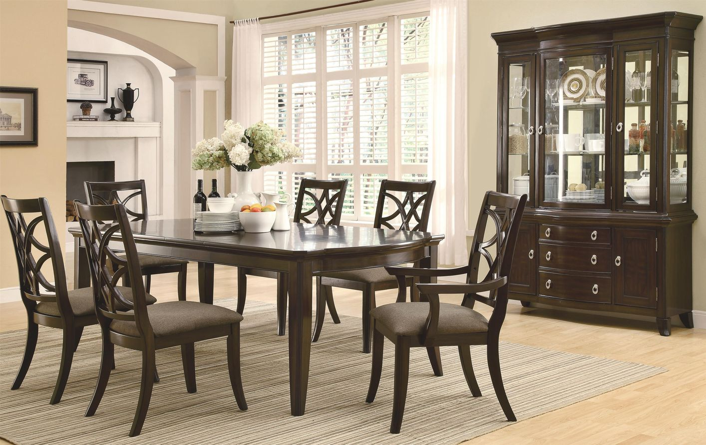 Meredith Espresso Wood Dining Table Set : espresso table set - pezcame.com