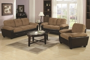 Mika Beige Microfiber Sofa And Loveseat Set