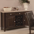Milton Cappuccino Wood And Marble Buffet Table