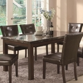 Milton Cappuccino Wood And Marble Dining Set