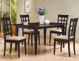 Miranda Wheat Cappuccino Wood Dining Table Set
