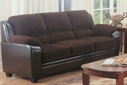 Monika Brown Leather Sofa