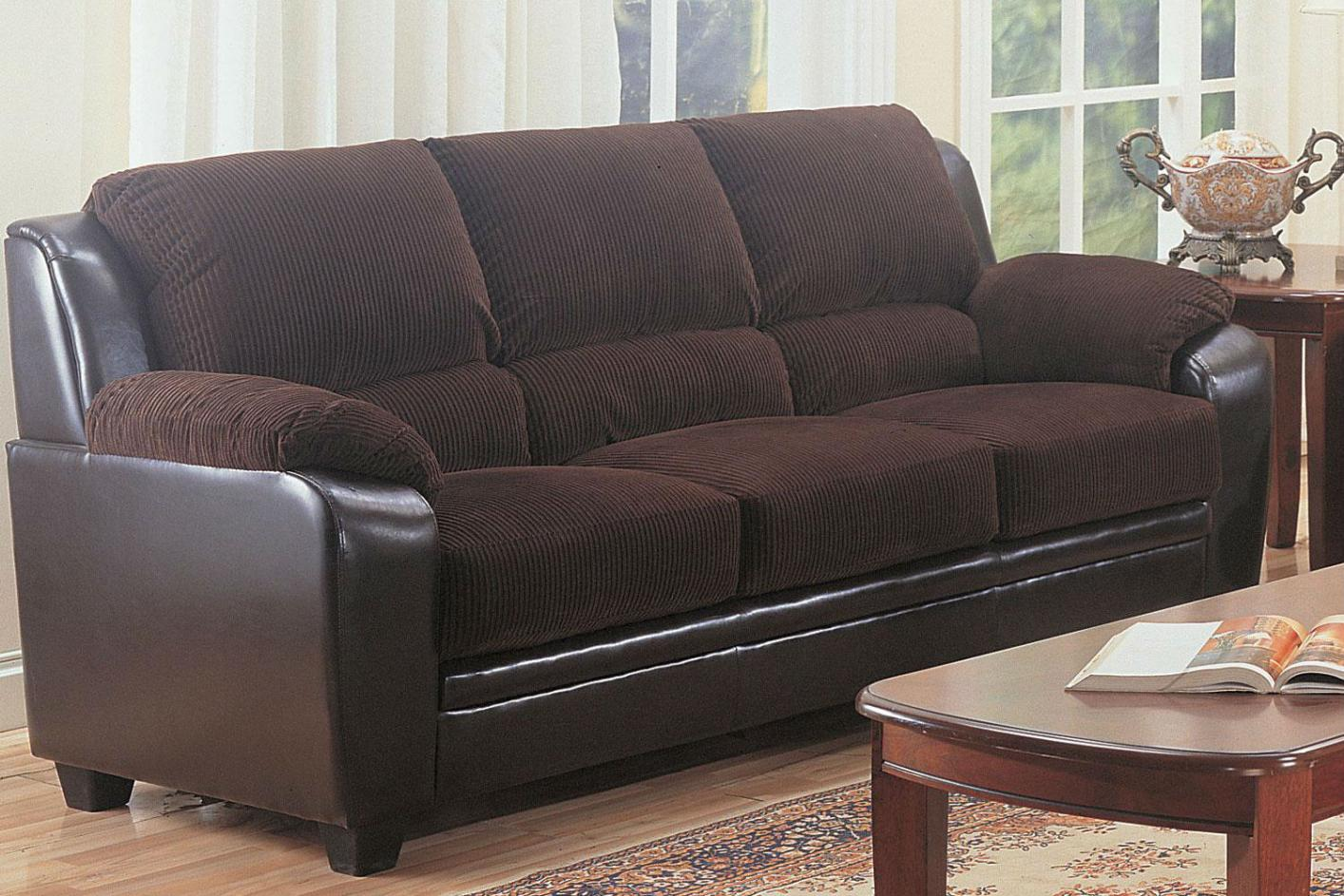 Brown Leather Sofa - Steal-A-Sofa Furniture Outlet Los Angeles CA